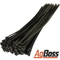 Cable Ties 200 x 4.8mm Black 100 pc