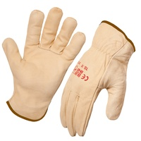 Riggers Gloves Beige (Black Band) Size 12 (3XL)