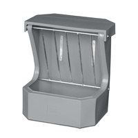 Hay Rack Feeder with Lid - Grey