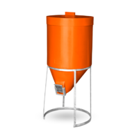 Silo 200 litre with Lid with Gal Stand - Orange