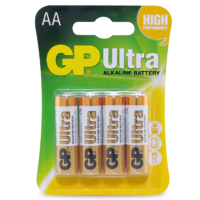 1.5V Ultra Alkaline AA GP Brand - Card of 4.