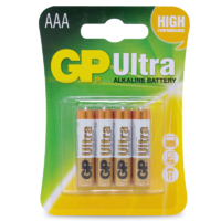 1.5V Ultra Alkaline AAA GP Brand - Card of 4.
