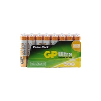1.5V Ultra Alkaline AAA GP Brand  - Pack of 16.