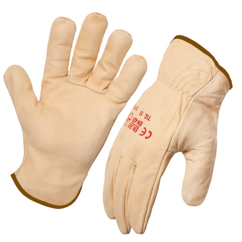 Riggers Gloves Beige (Blue Band) Size 10 (XL)